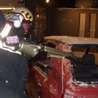 Technische Übung (hydraulisches Rettungsgerät)