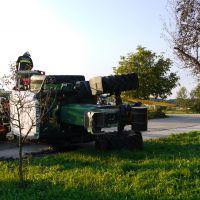 Umgestürzter Traktor