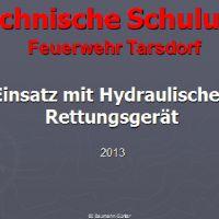 Technische Schulung (Einsatz mit hydraulischen Rettungsgerät)