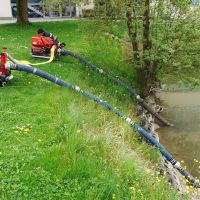 Löschwasserversorgung vom Weiher am RSF Gelände
