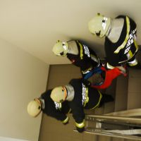 Personenrettung über das Stiegenhaus
