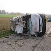 Verkehrsunfall - Auto überschlagen