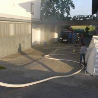 Löschübung Garagenbrand