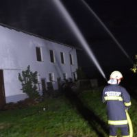 Löschübung Gebäudebrand