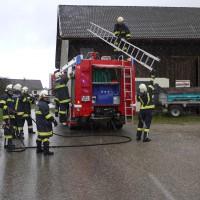 Brandeinsatz Mähdrescher