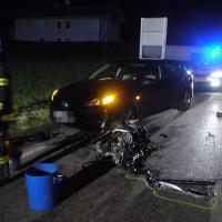 Verkehrsunfall mit fünf Fahrzeugen