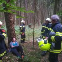 Technische Übung Holzunfall mit vermissten Personen