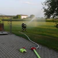 Löschübung: Pelletslagerbrand