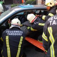 Technische Übung Verkehrsunfall mit Gefahrstoffen