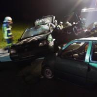 Übung Technisch Verkehrsunfall mit eingeklemmten Personen