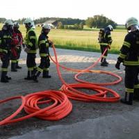 Löschübung mit Atemschutz: Wohnhausbrand